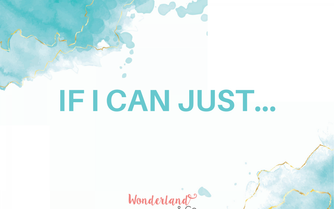 If I can just …