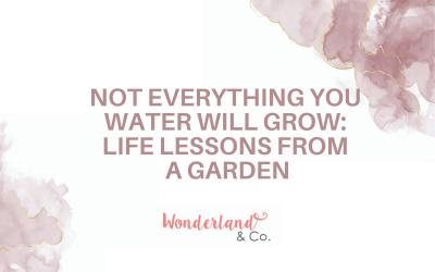 Not everything you water will grow: Life Lessons From a Garden